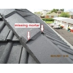 house inspection - missing mortar on tile roof