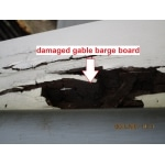 pre purchase house inspection reveals damaged gable barge board
