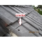 pre sale building inspections - checking for cracks in tiled roof