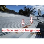 pre sale building inspections - showing rust on the barge cap