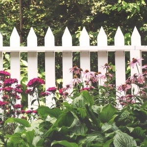 a white picket fence belonging to a home. If you are buying a home you need a pre-purchase inspection.